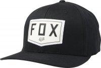 FOX CZAPKA Z DASZKIEM  SHIELD FLEXFIT BLACK