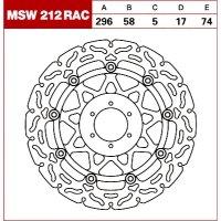 TRW Tarcza hamulcowa MSW212RAC HONDA VTR CBR CB 40