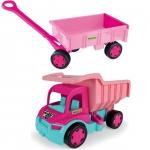 Wader Gigant Truck Wywrotka z Przyczepą dla dziewczynek  65006 + 10958