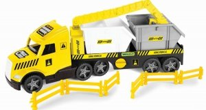 Magic Truck Technic laweta z kontenerami