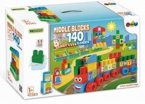 Wader 41583 Klocki Middle Blocks - 140el. Super Big
