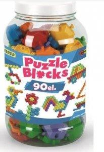 Klocki Puzzle słoik 90 szt.