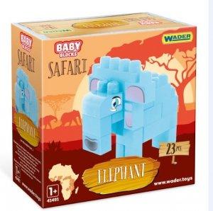 Baby Blocks Safari  słoń WADER 41502