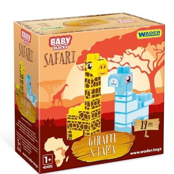 Baby Blocks Safari żyrafa i lama WADER 41500