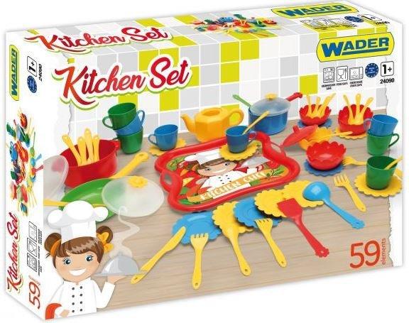 Party World zestaw kuchenny Kitchen set 59 el. WADER 24090