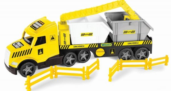 Magic Truck Technic laweta z kontenerami Wader 36470