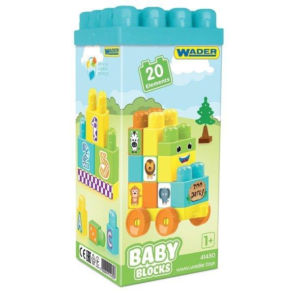 Klocki Baby Blocks 20 sztuk Wader 41430