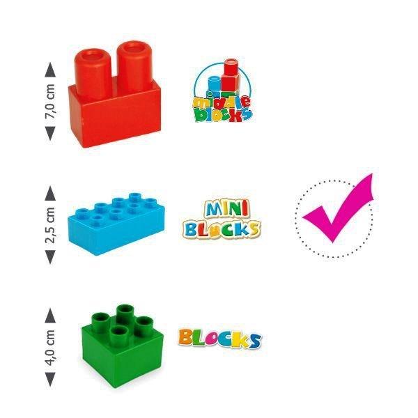 Klocki Mini Blocks  wiadro z klockami