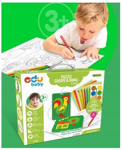 Puzzle CREATE&DRAW Farm EDU BABY WADER 42130