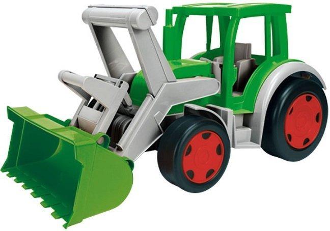 Wader Gigant Traktor z łyżką i przyczepą- Farmer (66015 + 10915)