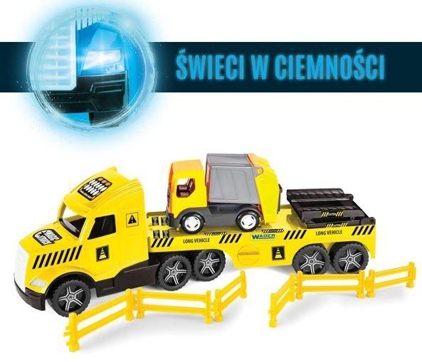 Magic Truck Technic laweta ze śmieciarką WADER 36440
