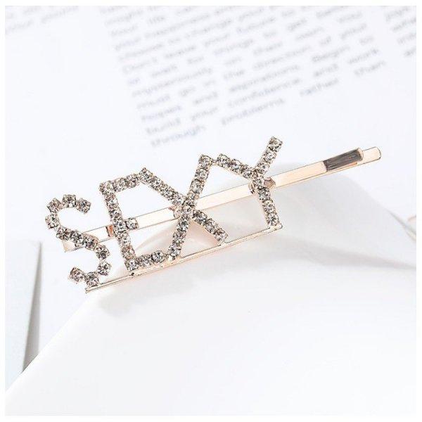 Wsuwka do włosów napis kryształ SEXY SP85Z