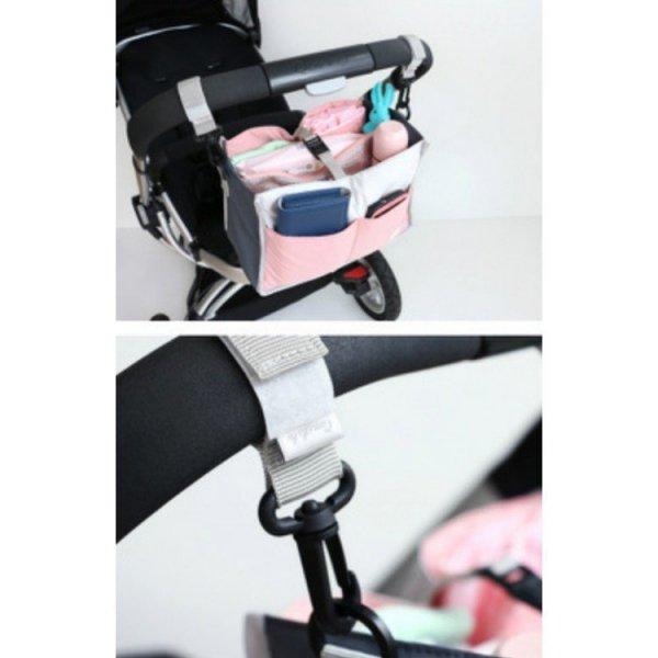 Wiszący organizer do wózka lub stojący różowy OR21R