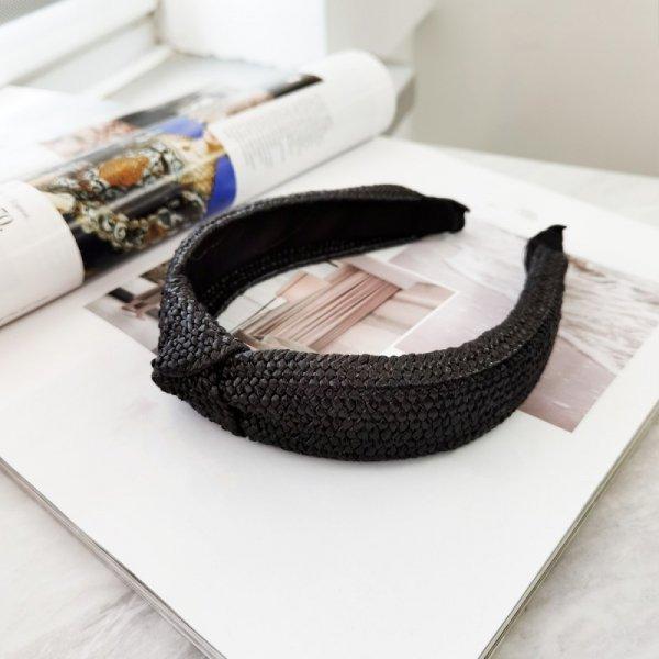 Opaska turban wiklinowa pleciona O286CZ
