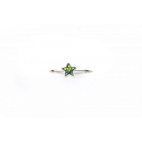 PIERŚCIONEK KRYSZTAŁEK SWAROVSKI STAL PLATEROWANA BIAŁYM ZŁOTEM PST461, Rozmiar pierścionków: US6 EU11