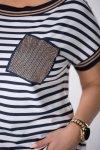 bluzka z krótkim rękawem i aplikacją z przodu