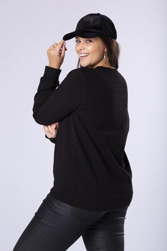 bawełniana bluza z naszywką na biuście