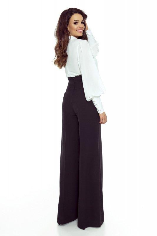 Szerokie spodnie z wysoką talią