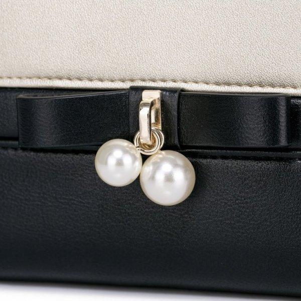 NUCELLE Krótki elegancki portfel Czarny