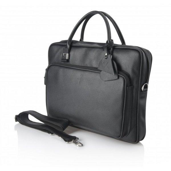 Czarna torba biznesowa