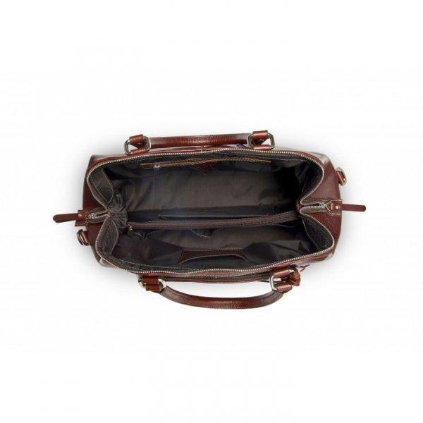 Brązowa torba ze skóry naturalnej