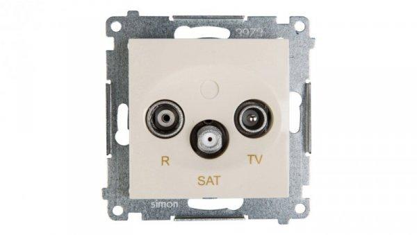 Simon 54 Gniazdo antenowe RD/TV/SAT przelotowe kremowe DASP.01/41