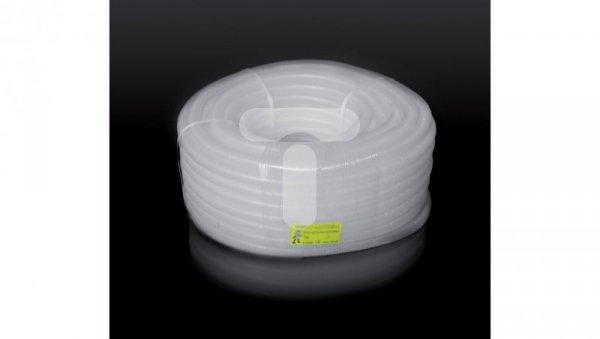 Rura karbowana przezroczysta 16mm biała RKLF 16/12-50 10041 /50m/