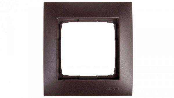 Simon 54 Premium Ramka pojedyncza brąz mat /do karton-gips/ DRK1/46