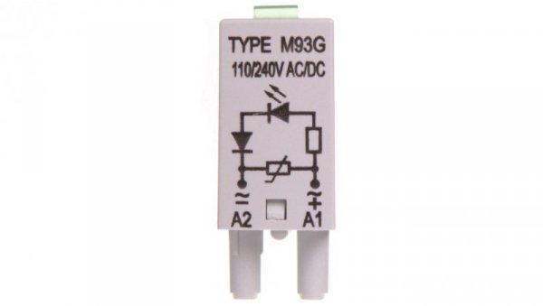 Moduł sygnalizacyjny LV (dioda LED zielony + warystor V) 110-230V AC/DC M93G szary 854860