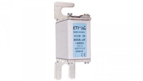 Wkładka bezpiecznikowa NH00 S80 400A aR 500V S00UQ01 004371123