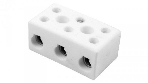 Złączka gwintowa porcelanowa 16mm2 3-tory biała CPO -30A-3P 80733516 /10szt./