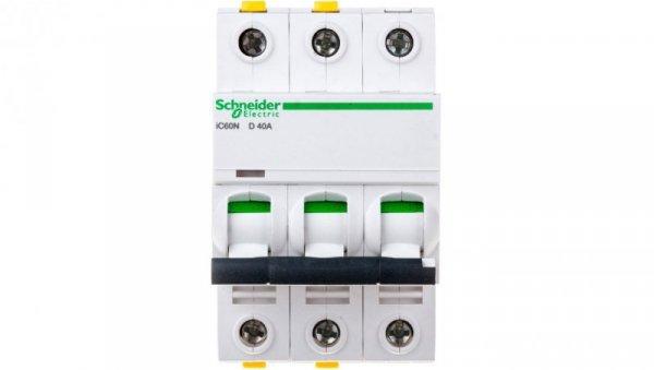 Wyłącznik nadprądowy 3P D 40A 6kA AC iC60N-D40-3 A9F05340