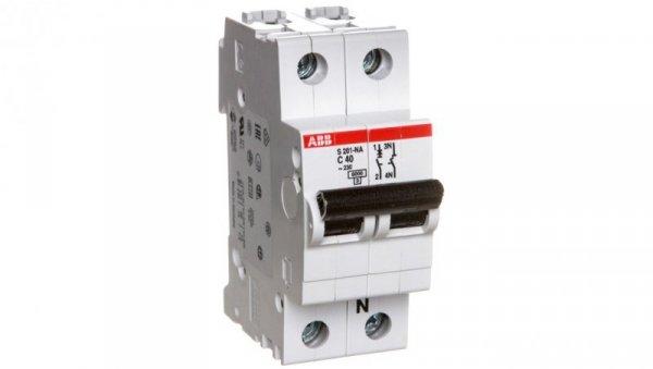 Wyłącznik nadprądowy 1P+N C 40A 6kA AC S201-C40 NA 2CDS251103R0404