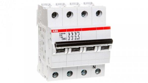 Wyłącznik nadprądowy 3P D 8A 6kA AC S203-D8 NA 2CDS253103R0081