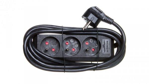 Listwa zasilajaca Eco-Line 3m 3x230V czarna H05VV-F 3G1,5 1157504130