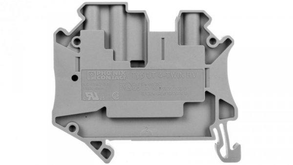 Złączka szynowa 3-przewodowa 4mm2 szara Ex UT 4-TWIN HV 3000608 /50szt./