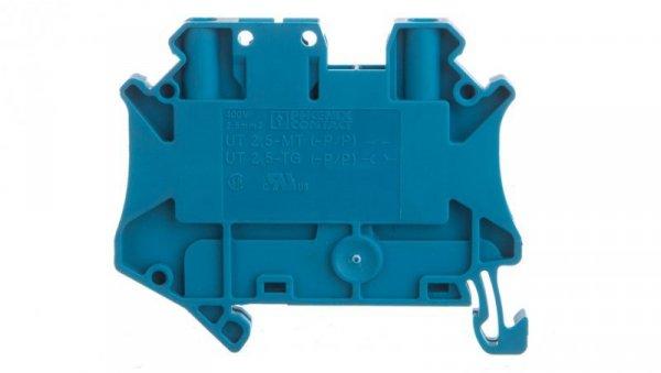 Złączka szynowa rozłączalna 2-przewodowa 2,5mm2 niebieska UT 2,5-TG BU 3046579 /50szt./