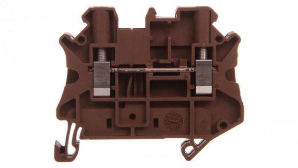 Złączka szynowa 2-przewodowa 4mm2 brązowa Ex UT 4-MTD BN 3047714 /50szt./