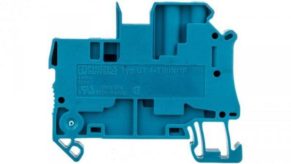 Złączka szynowa 3-przewodowa 4mm2 śrubowa/wtykowa niebieska UT 4-TWIN/ 1P BU 3060270 /50szt./