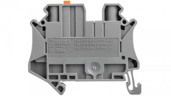 Złączka przelotowa 2-przewodowa z odłącznikiem nożowym 6mm2 szara UT 6-MT P/P 3064072 /50szt./
