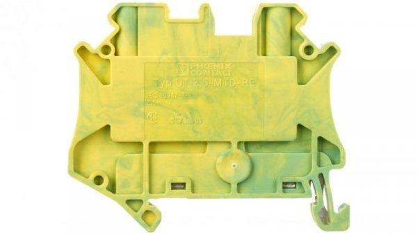 Złączka szynowa ochronna 2-przewodowa 2,5mm2 zielono-żółta UT 2,5-MTD-PE 3064124 /50szt./