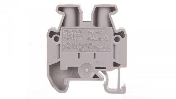 Złączka szynowa przelotowa 2-przewodowa 4mm2 szara Ex MUT 4 3248035 /50szt./