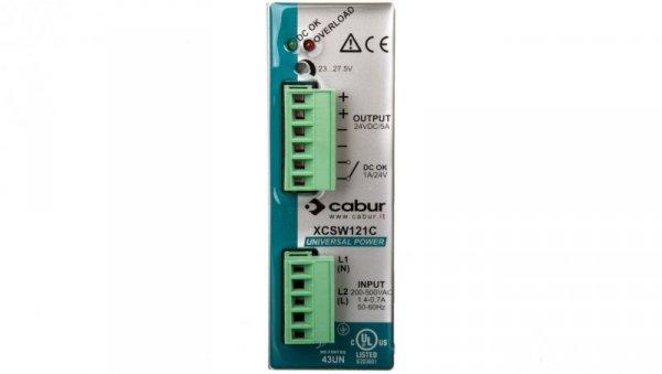Zasilacz impulsowy jedno/dwu fazowy 187-550VAC 24VDC 5A 120W XCSW121C
