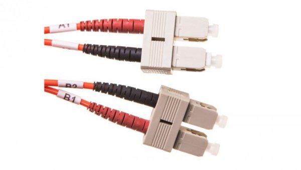 Patch cord światłowodowy SC/SC duplex MM 50/125 OM2 1m LS0H pomarańczowy DK-2522-01