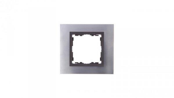 Simon 82 Ramka pojedyncza metalowa inox/ ramka pośrednia grafit metal 82817-37