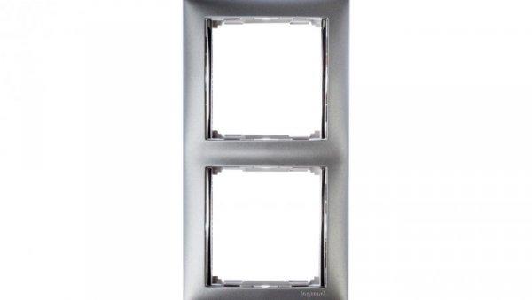 VALENA Ramka podwójna pozioma aluminium 770352