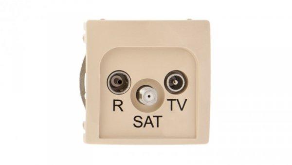 Simon Basic Gniazdo antenowe RD/TV/SAT przelotowe beżowe BMZAR-SAT10/P.01/12