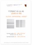 ulotka A5 składana do A6, druk pełnokolorowy obustronny 4+4, na papierze kredowym, 130 g, 500 sztuk