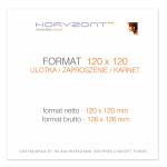 ulotka 120 x 120 mm, druk pełnokolorowy obustronny 4+4, na papierze kredowym, 170 g, tryb ekspres 50 sztuk