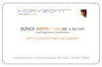 biznes karta 85 x 54 mm, druk pełnokolorowy obustronny 4+4, na papierze - karton 300g - folia błysk jednostronna - 1000 sztuk